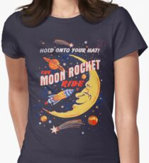 Rocket Moon Ride (vintage) Women's Fitted T-Shirt