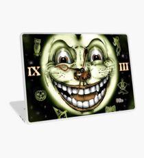 Black Cat 13 Halloween Clock Laptop Skin
