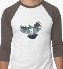 Kereru on retro stripe Men's Baseball ¾ T-Shirt