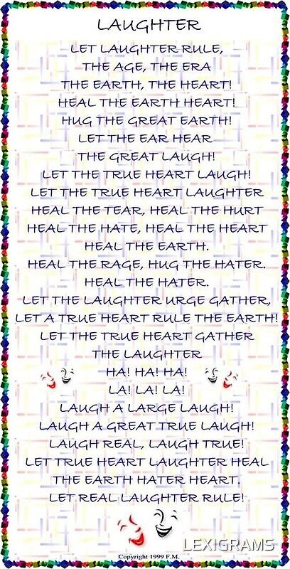 Lexigram of the word LAUGHTER by LEXIGRAMS