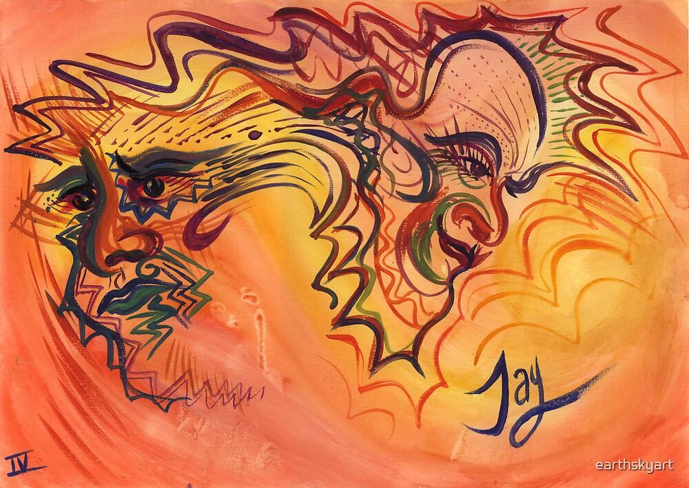 Two-headed Dragon by earthskyart