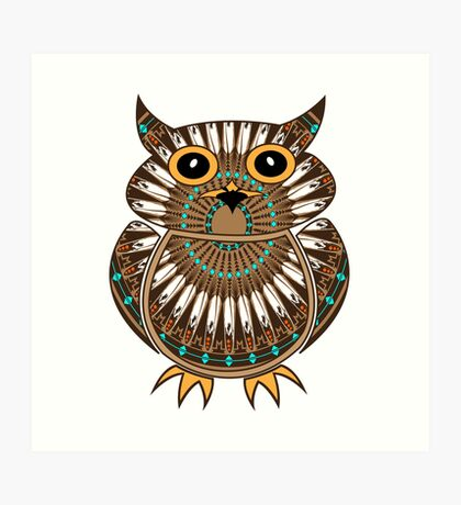 Owl - The Messenger  Art Print