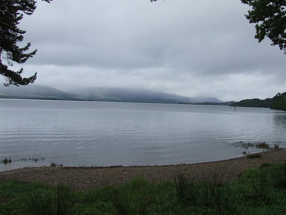Rain over Loch Lomond by David Fulton