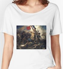 Liberty Leading the People 1830 Eugène Delacroix Women's Relaxed Fit T-Shirt