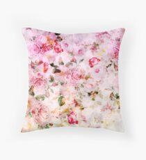 Vintage pink pastel watercolor floral pattern Floor Pillow