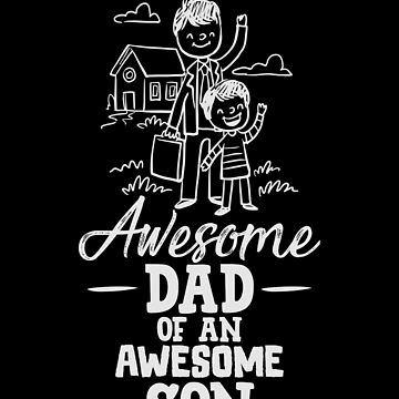 Dad Of An Awesome Son Father's Day Design Gift Tee by artbyanave