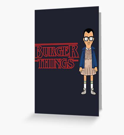 Burger Things Greeting Card