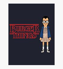 Burger Things Photographic Print