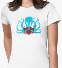 Octo Drummer Women's Fitted T-Shirt