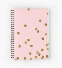 Cuaderno de espiral Blush y oro