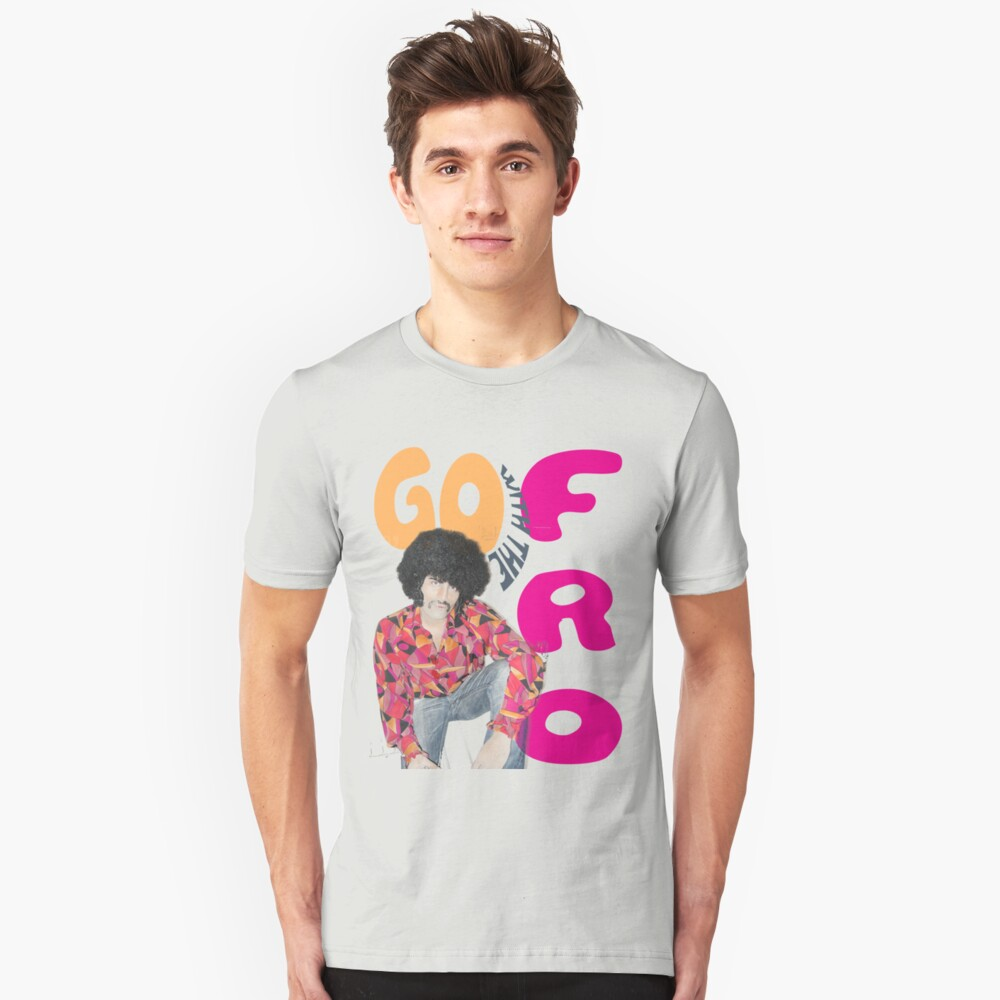 Go With The 'Fro Unisex T-Shirt Front