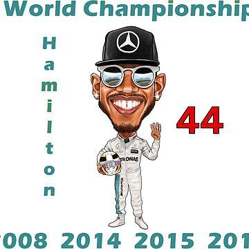 Lewis Hamilton 4th World Championship 2017 by mal108