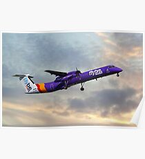 Flybe Bombardier Dash 8 Q400 Poster