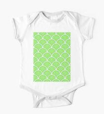 Green Flash large mermaid scale pattern Kids Clothes