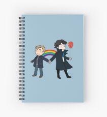 Orgulloso de ser Sherlock y John Cuaderno de espiral