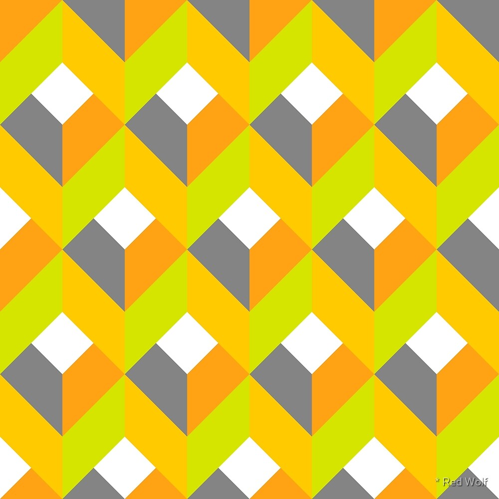 Geometric Pattern: Box: Citrus by * Red Wolf