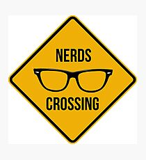 Nerd crossing Photographic Print