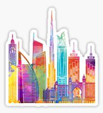 Dubai landmarks watercolor poster Sticker