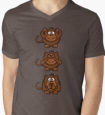 Cartoon Monkey Hears, Sees, Speaks No Evil! T-Shirt