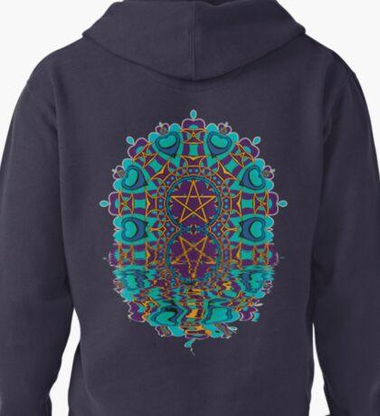 Aqua Purple Pentagram Love Reflection T-Shirt