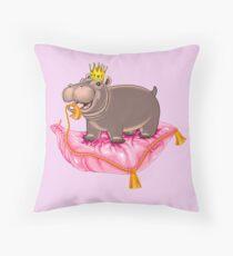 Playful Baby Hippo  Throw Pillow