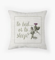 outlander scottish thistle Throw Pillow