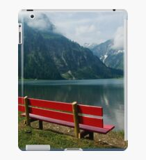 Red bench with a view iPad Case/Skin