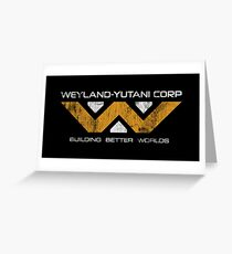 Weyland Yutani - Distressed Yellow/White Variant Greeting Card