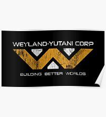 Weyland Yutani - Distressed Yellow/White Variant Poster