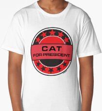 Cat For President Long T-Shirt