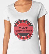Cat For President Women's Premium T-Shirt