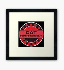 Cat For President Framed Print