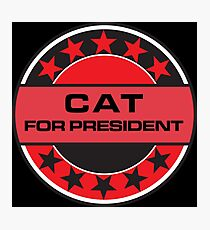 Cat For President Photographic Print
