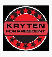 Kryten For President Photographic Print