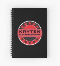 Kryten For President Spiral Notebook