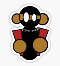 Ninja Monkey with Nunchucks Sticker