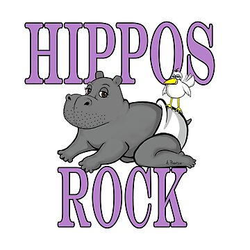 Hippos Rock- Baby Hippo by Hippogal