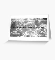 """The NBHD """"West Coast"""" Clouds Greeting Card"""