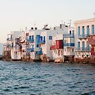 romance in little venice, mykonos, greece by tara romasanta