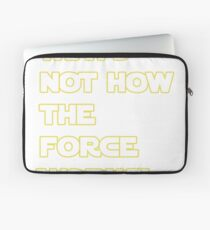 Han Solo Quote Laptop Sleeve