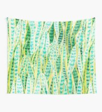 green snake plant pattern  Wall Tapestry