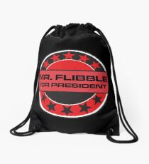 Mr Flibble For President Drawstring Bag