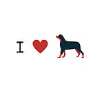 I heart dogs by Kamira Gayle