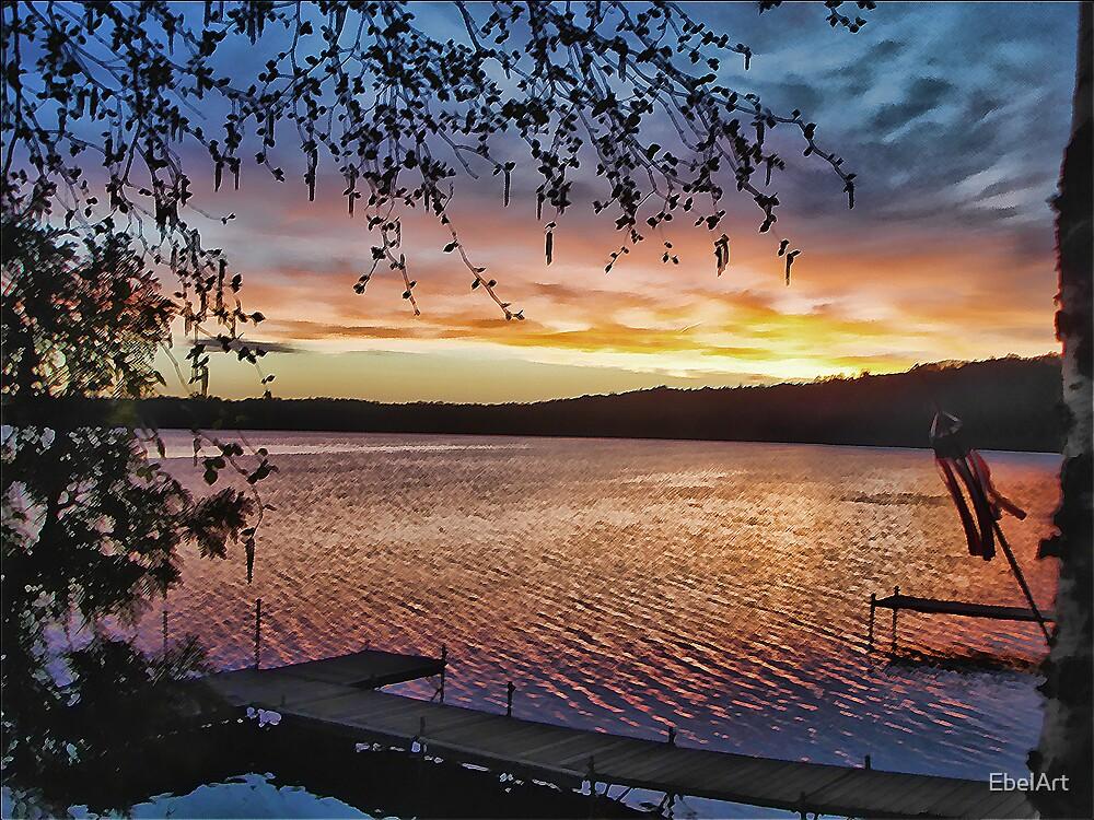 Sunset Dock by EbelArt