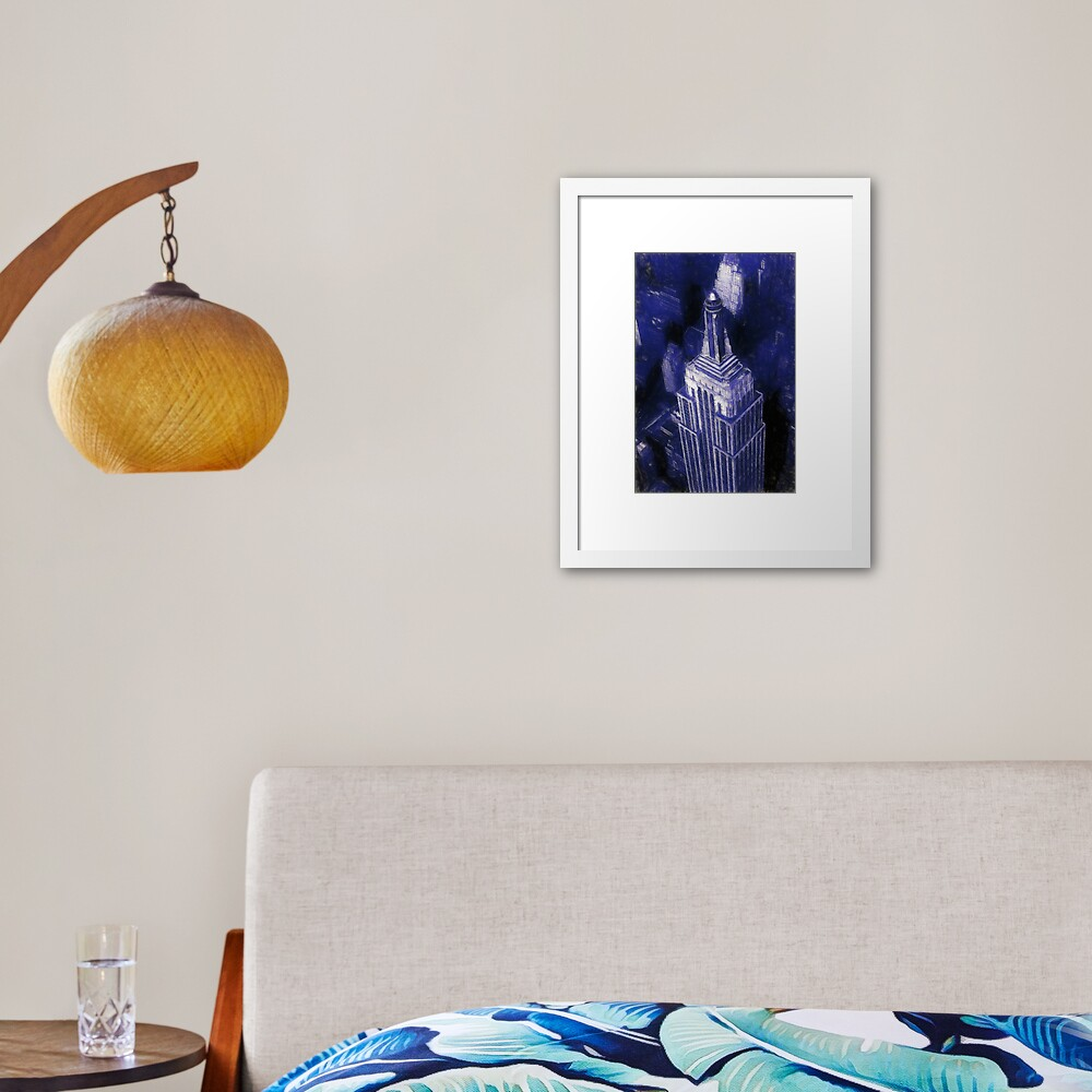 Empire State Building Reworked No. 17, Series 1j Framed Art Print