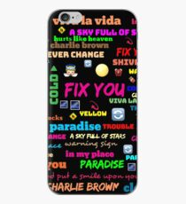 TITLE SONG COLDPLAY iPhone Case
