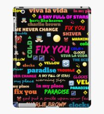 TITLE SONG COLDPLAY iPad Case/Skin