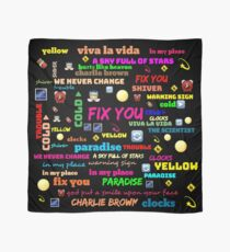 TITLE SONG COLDPLAY Scarf