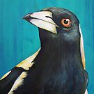 Bird Series - Magpie by tank