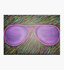 Oil Pastel Glasses Photographic Print
